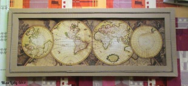 cadre planisphère
