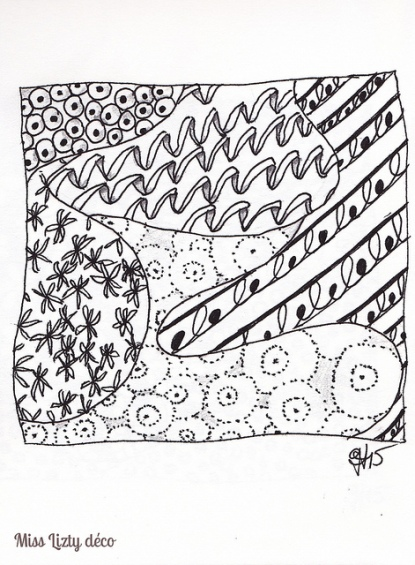 mon premier zentangle
